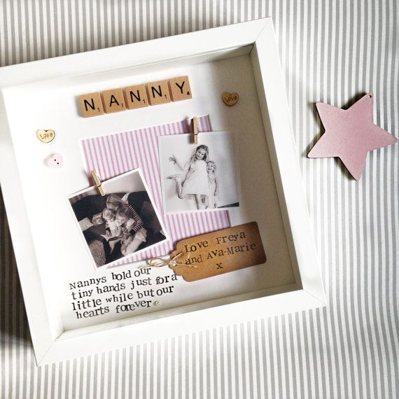 Nana Frame- personalised scrabble photo frame for Nana, Nanny, Nannie, Nan, Grandma, Great Nana