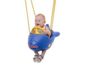 Balanço Infantil Playground Avião Azul - Xalingo