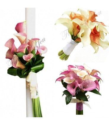 Pachet lumanari buchete cale - Flowers4You
