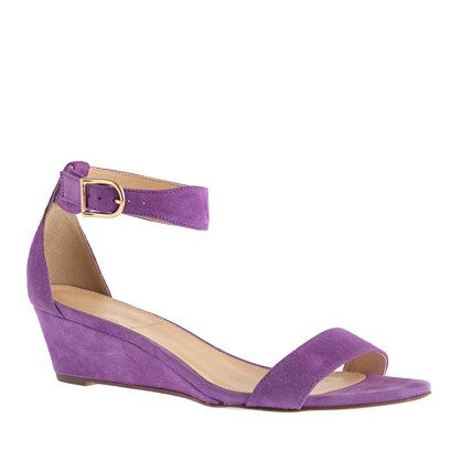 Lillian suede low wedges - Comes in a variety of colors.  Very versatile and comfy with your white jeans, etc