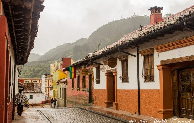 La Candelaria on a rainy day.  Bogota, Colombia