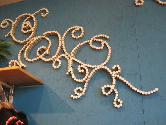 wall decorations made with wine bottle corks