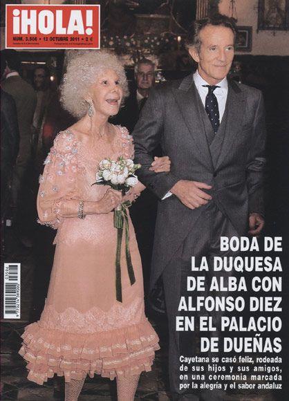 Esta semana en ¡HOLA!: La boda de la duquesa de Alba con Alfonso Diez en el palacio de Dueñas