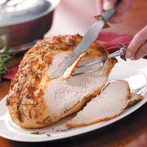 Rosemary Turkey Breast Recipe -In Wills Point, Texas, Dorothy Pritchett seasons turkey with a mixture of garlic and rosemary for a tasty and tender bird. The attractive main course is a perfect accompaniment to your holiday meal.
