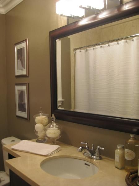 I Want To Do All The Bathroom Mirrors Like This In My House Not