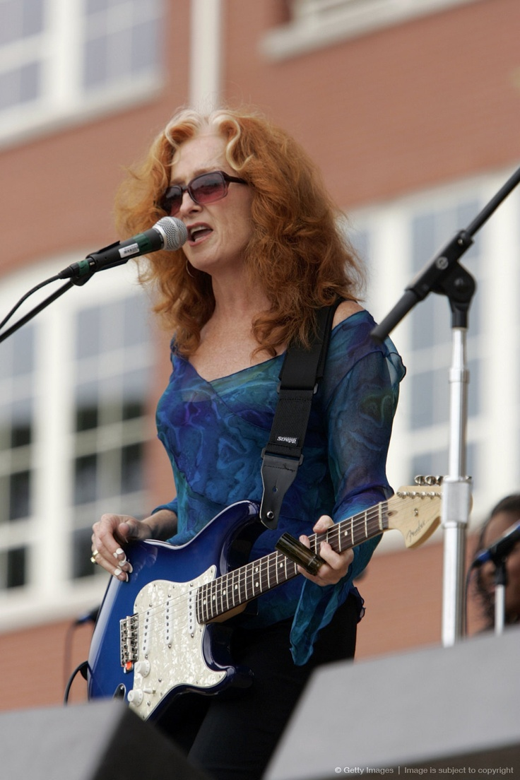 Bonnie Raitt - blues woman extraordinaire. She dropped out of Radcliffe to study the blues with Muddy Waters and Howlin Wolf. She's my idol.