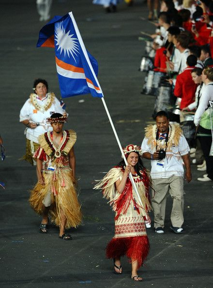 2012 Olympic Games - Opening Ceremony. The Marshall Islands team.