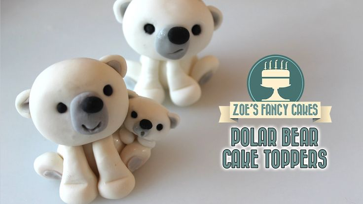 Polar bear cake topper tutorial