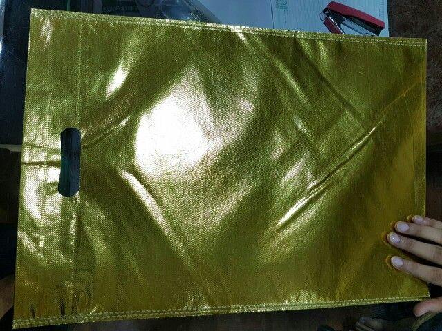 Gold color D-cut bag
