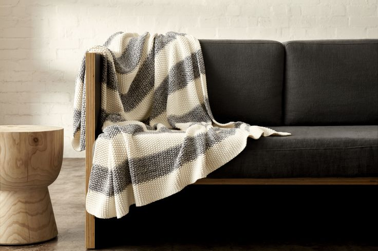 Nail effortless summer style with this lightweight, cotton throw. Bold, contrasting stripes bring a strong graphic edge to the scene and make this basic anything but boring. A grey and white striped throw rug can never go wrong || Mark Tuckey + Cotton On | |2016
