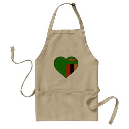Zambia Flag Adult Apron - home gifts ideas decor special unique custom individual customized individualized