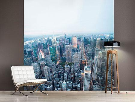 Fotomural Horizonte de Manhattan en la oscuridad