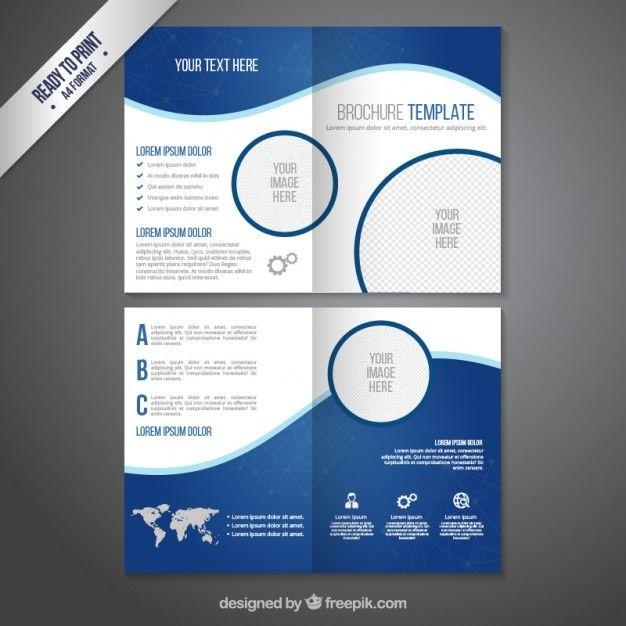 Plantilla de folleto en tonos azules Vector Gratis