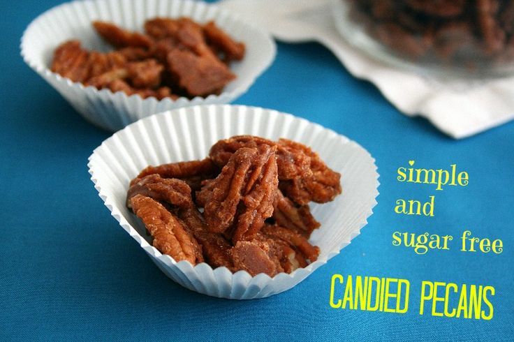 Simple sugar free candied pecans.  Your friends will beg for them, but we won't tell if you keep them all to yourself.