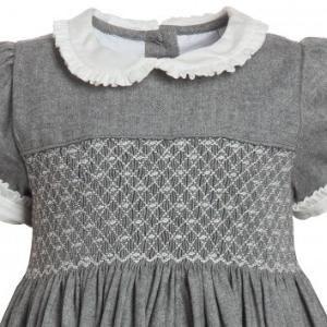 Grey Hand-Smocked Dress - Dresses - Baby | Childrensalon by karin