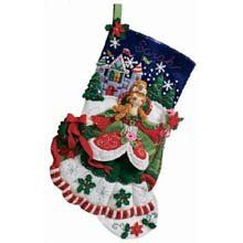 Amazon.com: Bucilla 18-Inch Christmas Stocking Felt Applique Kit, Princess: Arts, Crafts & Sewing