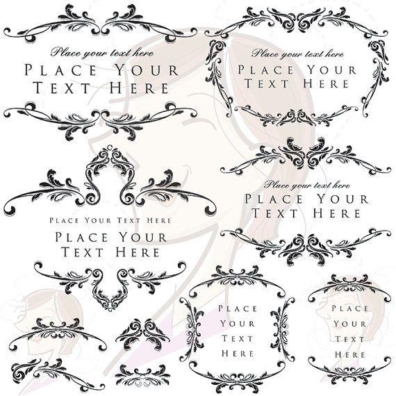 Digital Stamp Design Flourish Rose Border Corner Clip Art: 17 Best Images About Victorian On Pinterest