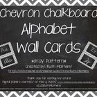 This set includes 2 complete chevron sets of alphabet word wall cards in gray. One set features a Zaner Bloser manuscript font, and one set include...
