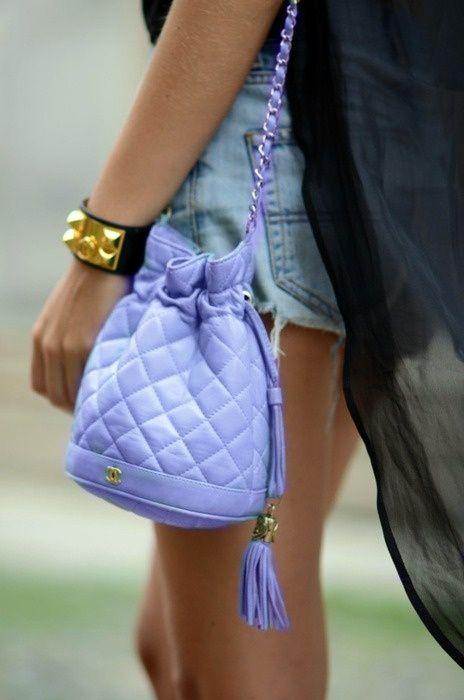 Chanel Bucket Bag in Electric Lilac ($2,500)