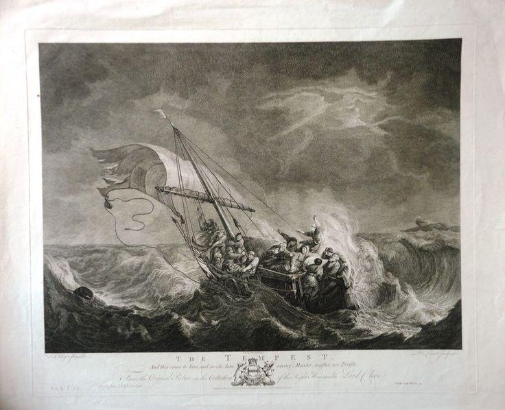 P. C. Canot (c.1710-1777) after S. J. de Vlieger (1600-1653). The Tempest #Realism