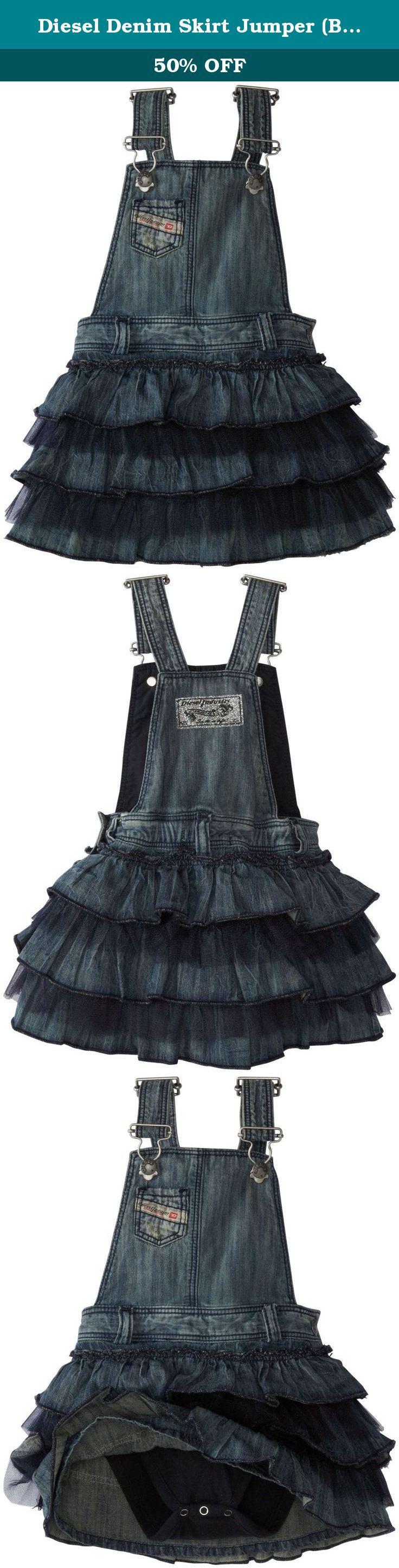 Diesel Denim Skirt Jumper (Baby/Toddler) - Indigo-6 Months. Diesel Denim Skirt Jumper (Baby) - Indigo.
