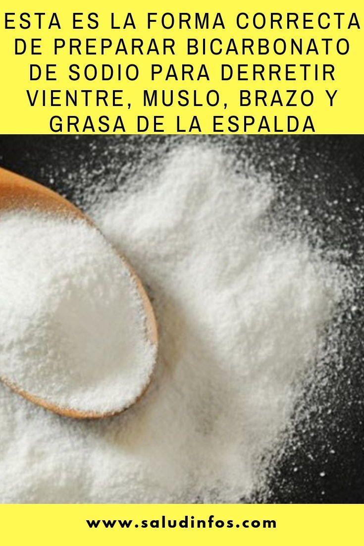 bicarbonato de sodio para adelgazar como se prepara