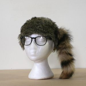 Raccoon Tail Hat now featured on Fab.