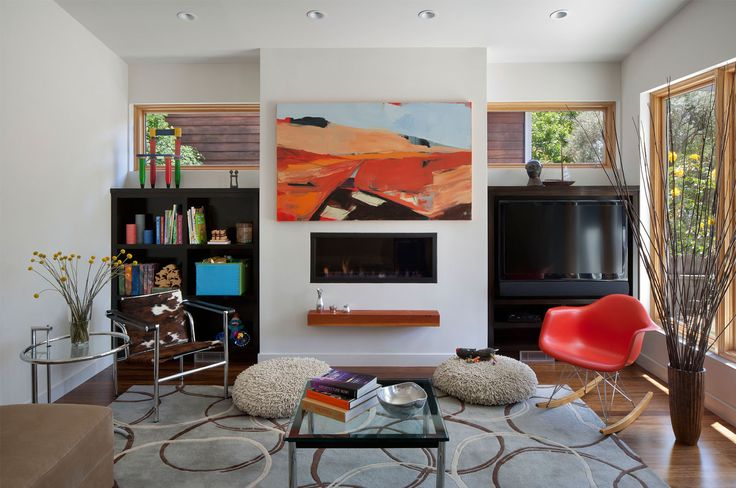 living room with electric fireplace decorating ideas breakfast nook Shed Contemporary Medium Installation Kitchen Sprinklers