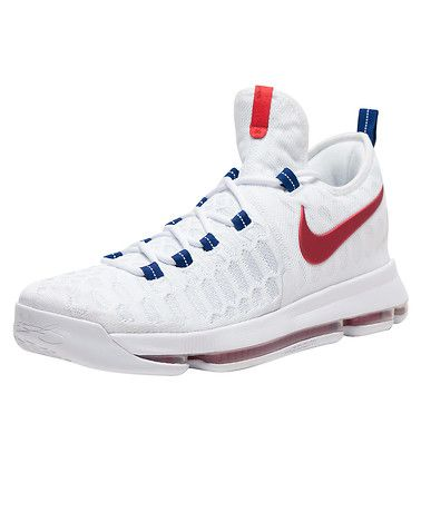 NIKE Mid-top men's sneaker Kevin Durant Laceup closure Flyknit construction KD branding on heel Sued... True to size. Flyknit and synthetic materials. White 843392-160.