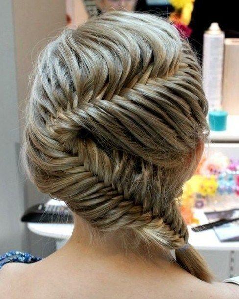 Beautiful French Fishtail Braid Hairstyle