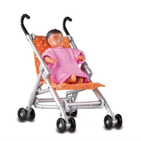 Baby with trolley