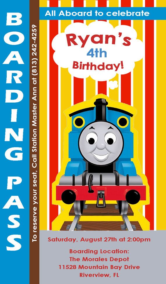 110 best Thomas the train party images – Thomas the Tank Engine Birthday Invitations
