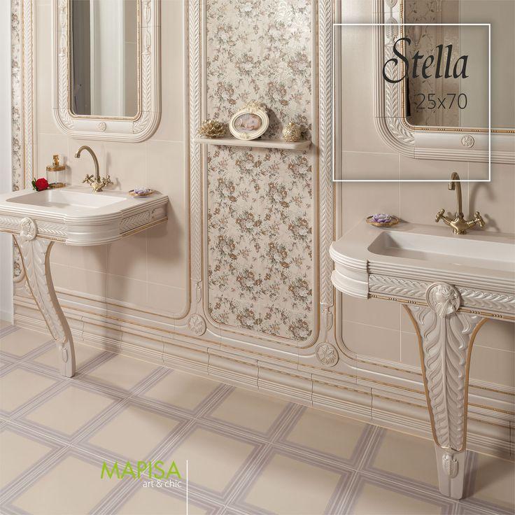 Stella 25x70  Si el papel pintado es tu debilidad la colección Stella te conquistará por completo. Motivos florales, delicados, elegantes y a la vez actuales para crear ambientes diferentes llenos de encanto. http://www.mapisa.com/serie/stella/