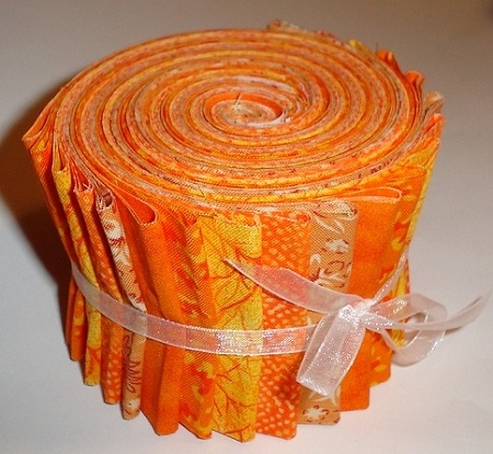 Orange Jelly Roll Fabric Prints 20 Strips Jelly Rolls