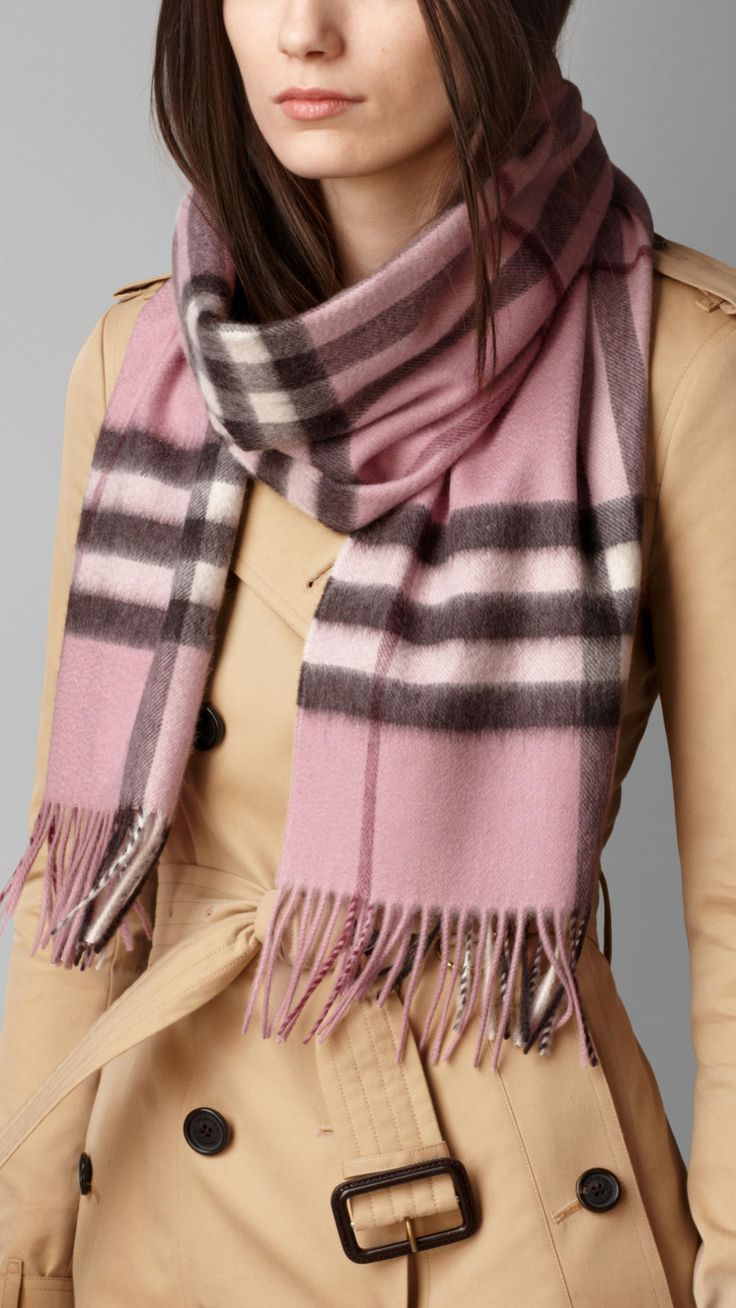 Check Cashmere Scarf Pink Heather Check | Burberry