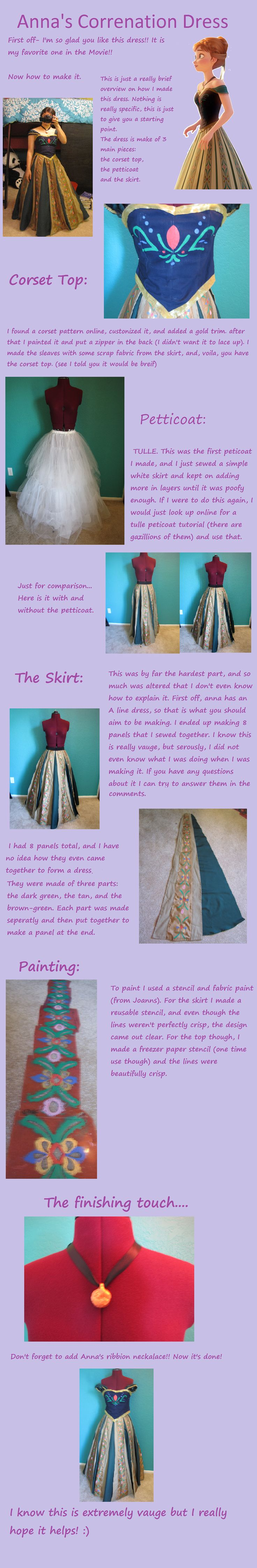 Frozen: Anna Coronation Dress Overview/Tutorial by BooksArtDance.deviantart.com on @deviantART