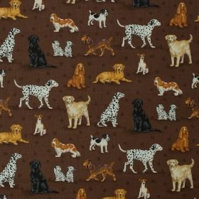 Dog Scatter 771 - Brown - Materiale textile online