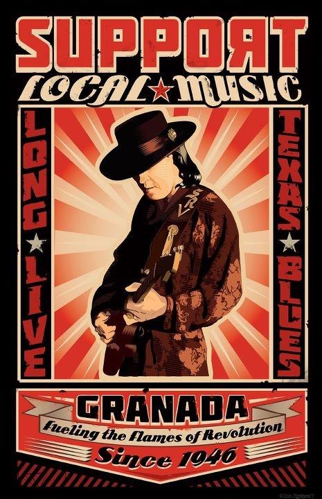 SUPPORT LOCAL MUSIC! Long Live Texas Blues! Stevie Ray Vaughn | Granada Theater | Dallas, Texas