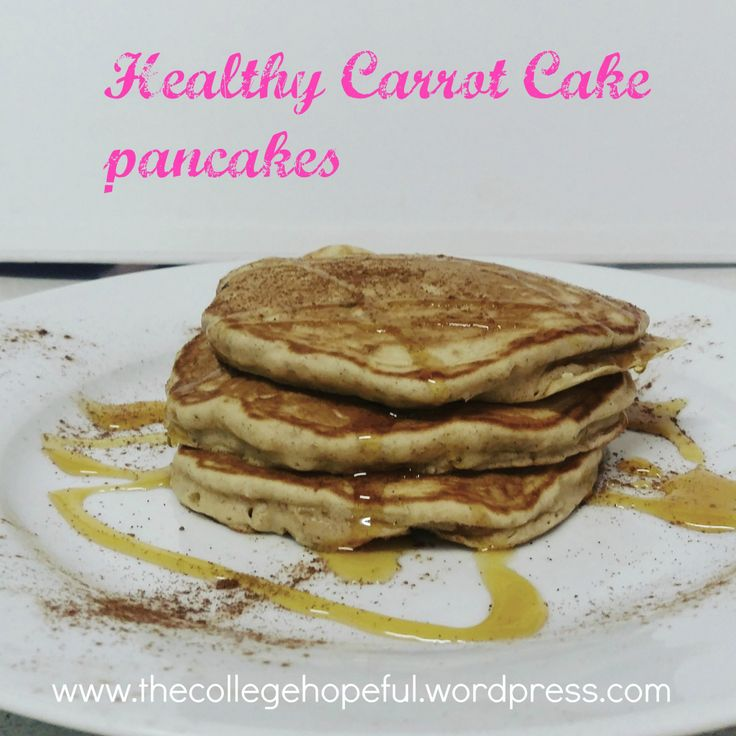 Healthy Carrot Cake Pancakes on https://thecollegehopeful.wordpress.com/
