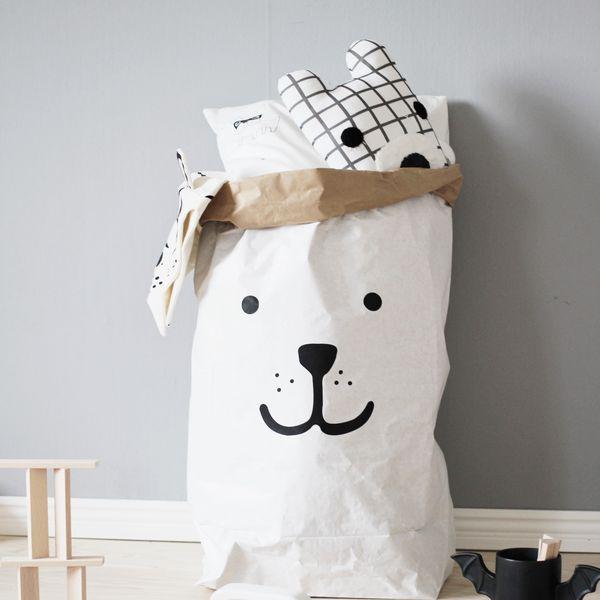 Cute Bear Paper Toy Storage Bag