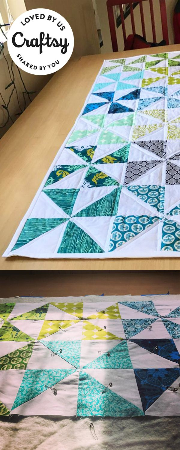This gorgeous quilted table runner was stitched by a maker just like you! Click to find out what class they used to make it!