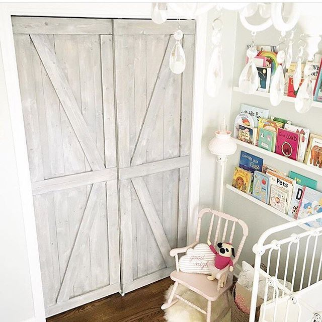 Rustic meets glam in this sweet nursery featuring sliding ...