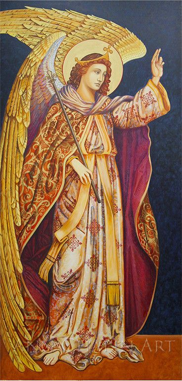 Angel Gabriel from a large diptych of the Annunciation.