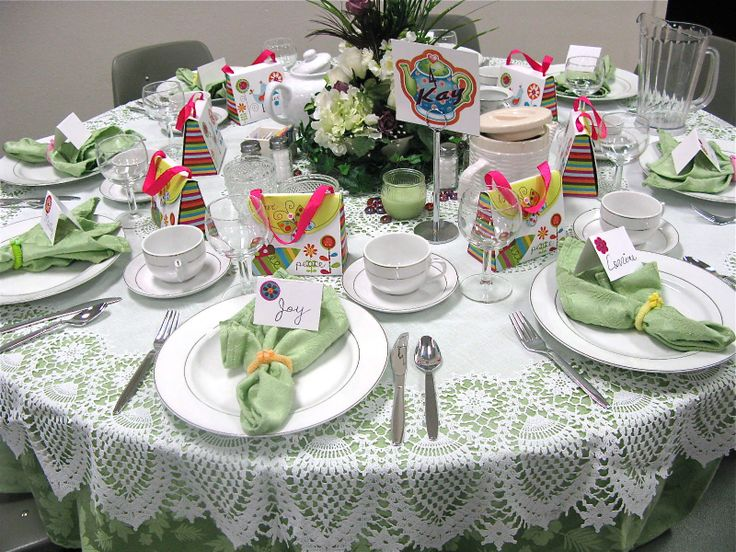 Images of Tea tables laid for a party   Table Scraps: Tea ...