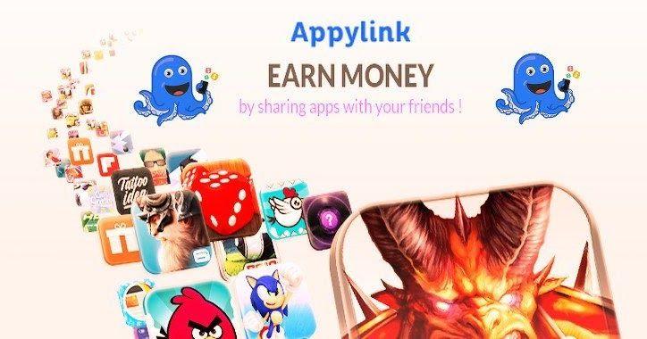 AppyLink vous permet de gagner de l'argent en partageant des #jeux et des applications pour #iPhone et #Android !  C'est un peu comme une régie publicitaire faisant la promotion d'applications !  De 0,40$ à 3$ par applications téléchargées (il faut parfois atteindre un certain niveau sur le jeux pour que la transaction soit validée).  Plus d'infos sur mon blog...