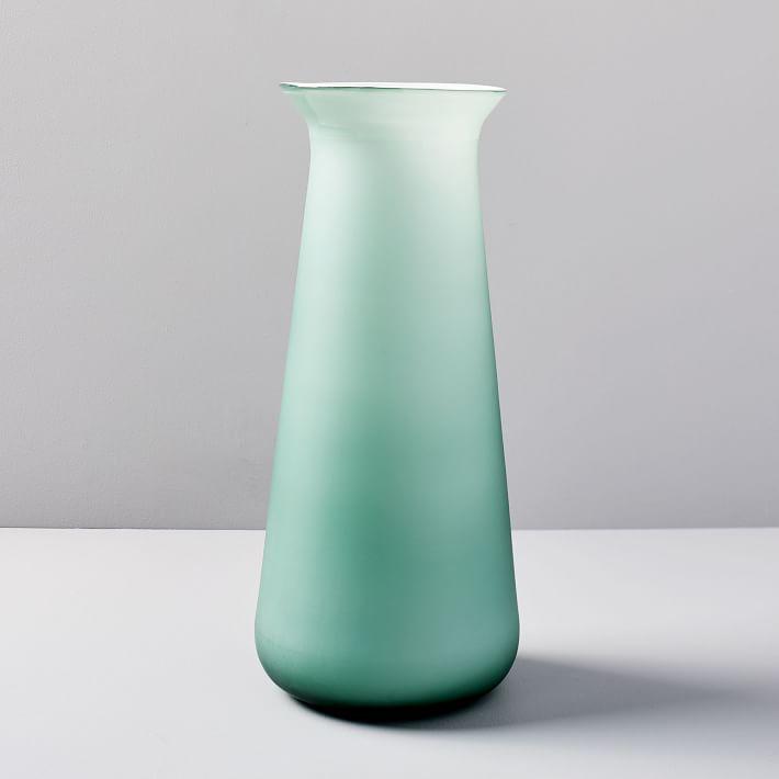 Modern Glass Vase Saucer Light Pink Grapefruit Modern Glass