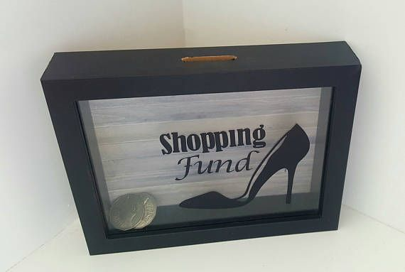 Check out this item in my Etsy shop https://www.etsy.com/au/listing/511577766/money-box-gift-shopping-fun