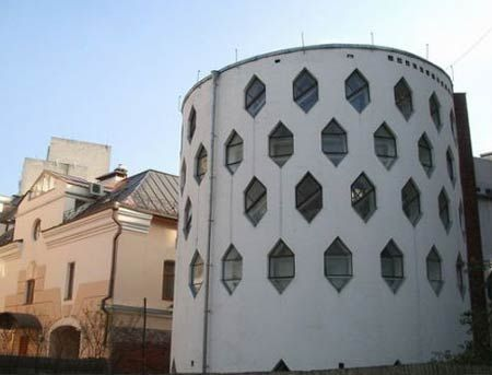 House of Melnikov in Moscow    Дом-мастерская Константина Мельникова, Москва, Кривоарбатский переулок, 10