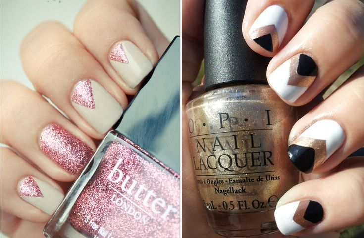 Triangle Nails- I just did my nails like this!