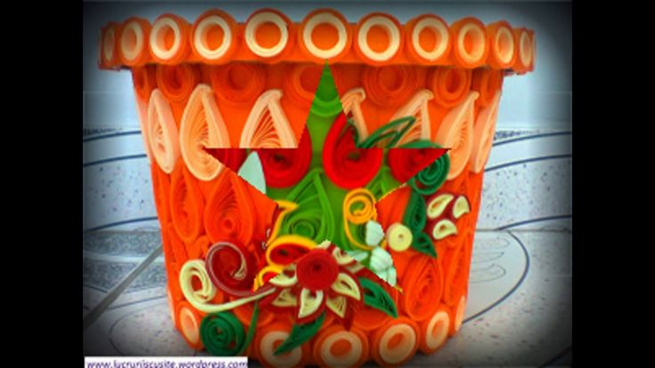 Ghivece decorate hand made----Hand made pots decorated